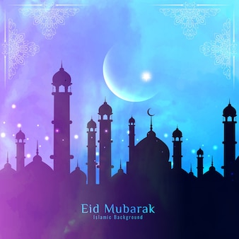 Colorful eid mubarak vector design
