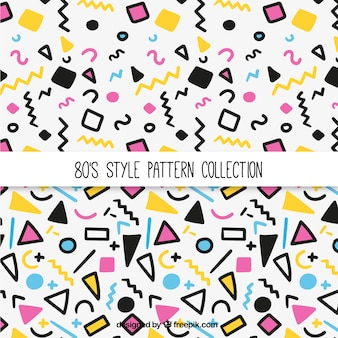 Colorful eighties patterns