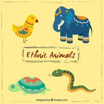 Colorful ethnic animals