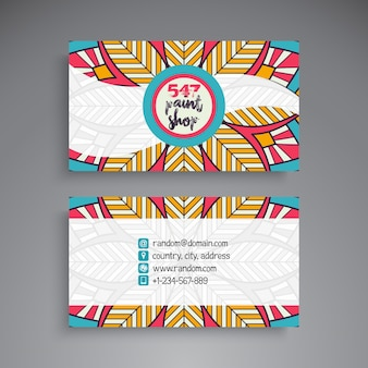 Colorful ethnic business card