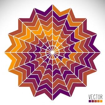 Colorful ethnic mandala illustration