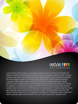 Colorful floral background with space for text
