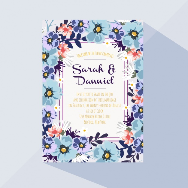 Colorful floral card