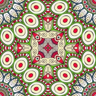 民族的なスタイルのヴィンテージ装飾要素シームレスなパターン