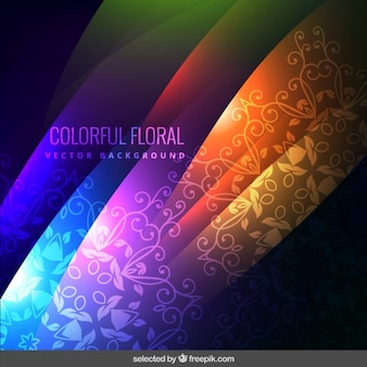 Colorful floral ornamental background