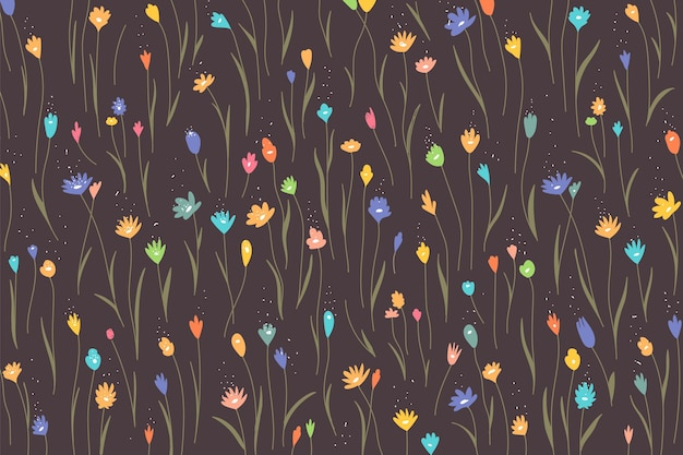 Colorful floral pattern background