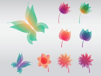 Colorful flower design vector