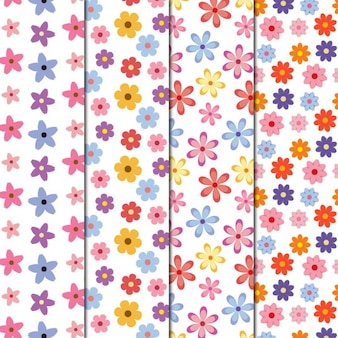 Colorful flower patterns