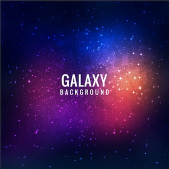 Colorful galaxy background design