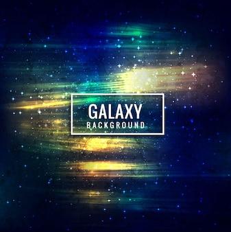 現代のカラフルな銀河の背景