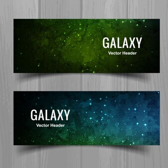 Colorful galaxy banners