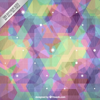Colorful geometric background in abstract style