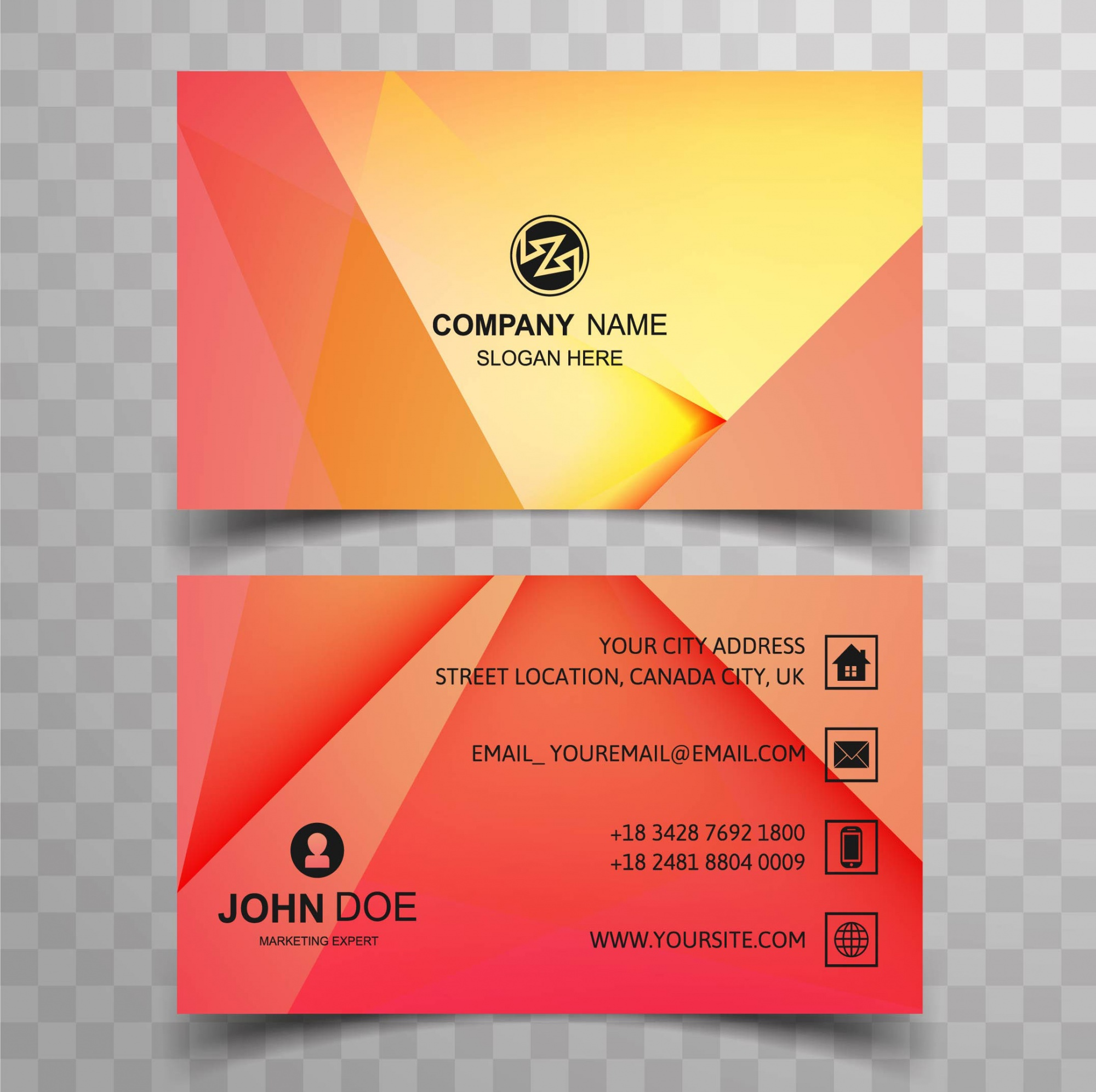 Colorful geometric business card