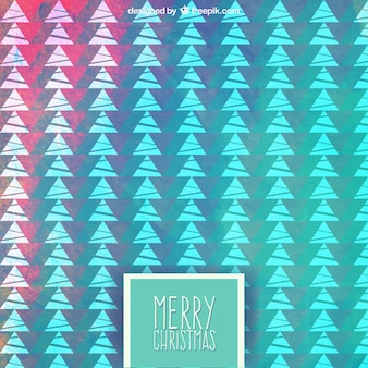 Colorful geometric christmas trees pattern