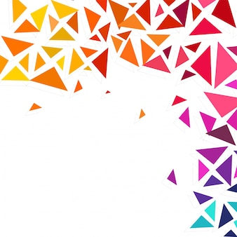 Colorful geometric triangles decorated abstract background with space for your text.