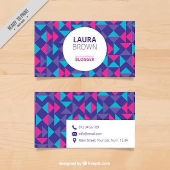 Colorful geometric visit card