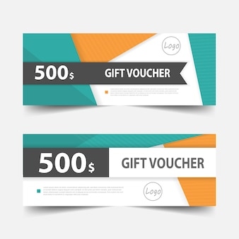 Colorful gift voucher banner design