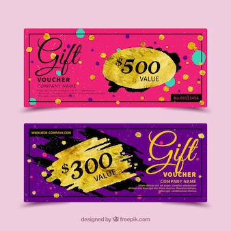 Colorful gift voucher