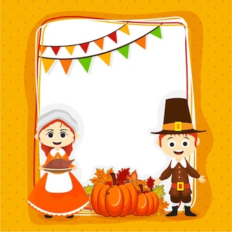 Colorful greeting card ready for thanksgiving day