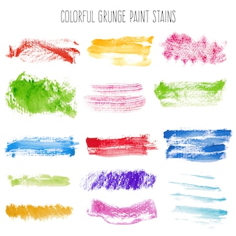 Colorful grunge paint stains