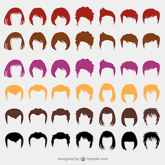 Colorful hairstyles