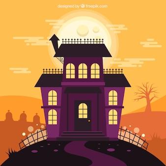 クラシックなスタイルのカラフルなハロウィーンの家