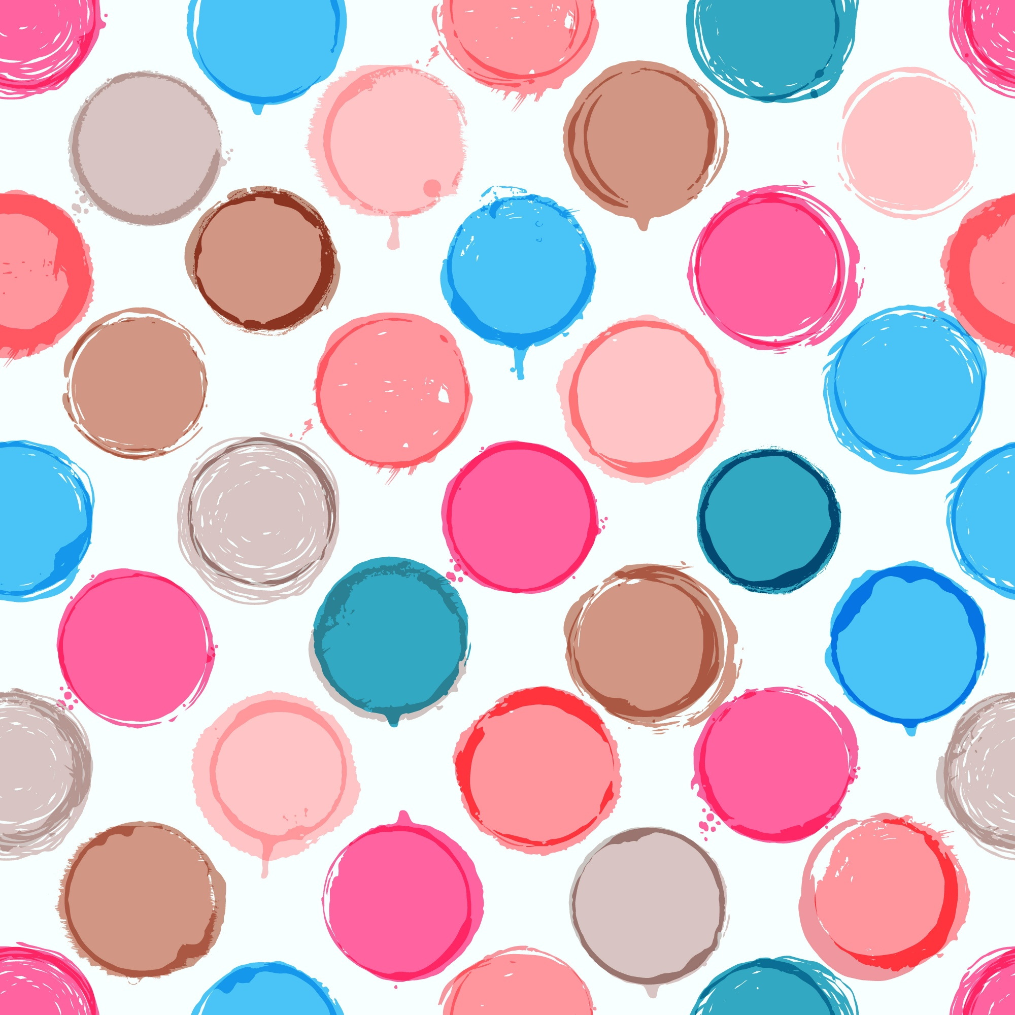 Colorful hand drawn pattern of circles