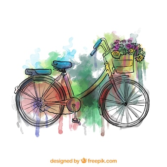 Colorful hand painted bike