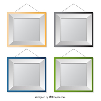 Colorful hanging frames collection