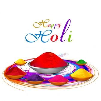 Colorful holi greeting