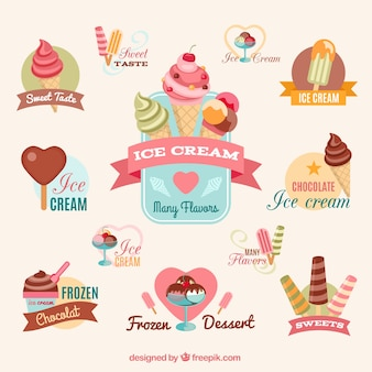 Colorful ice creams