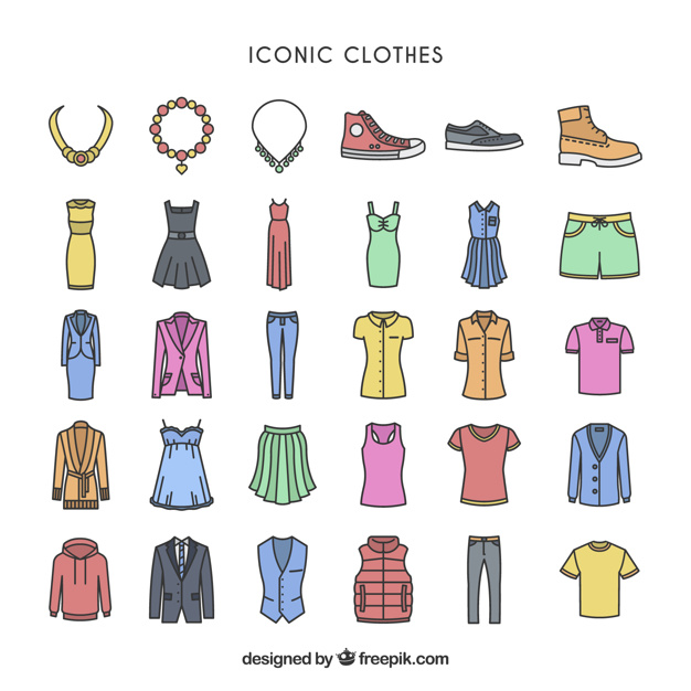 Colorful iconic clothes