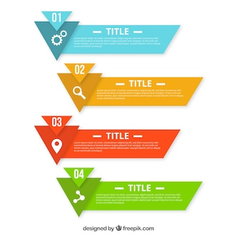 Colorful infographic banners with geometric shapes