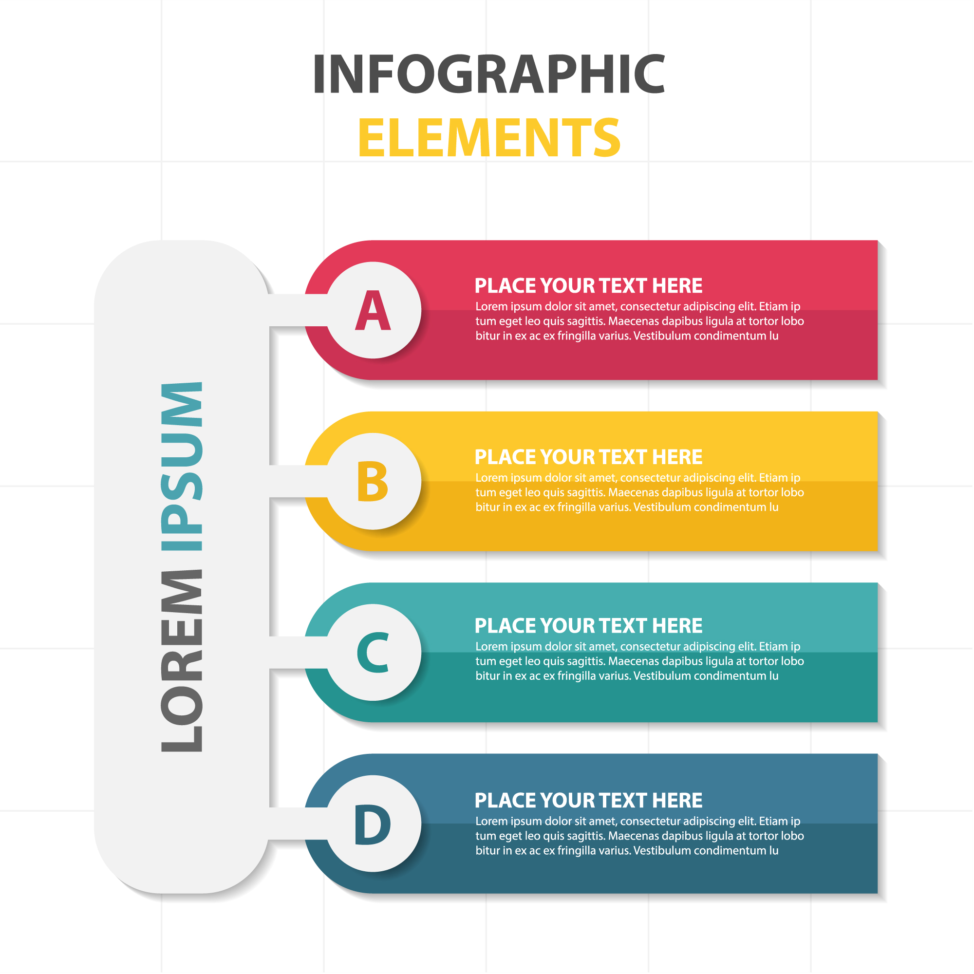 Colorful infographic elements template