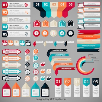 Colorful infographic elements