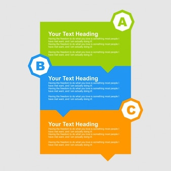 Colorful infographic speech bubble banners
