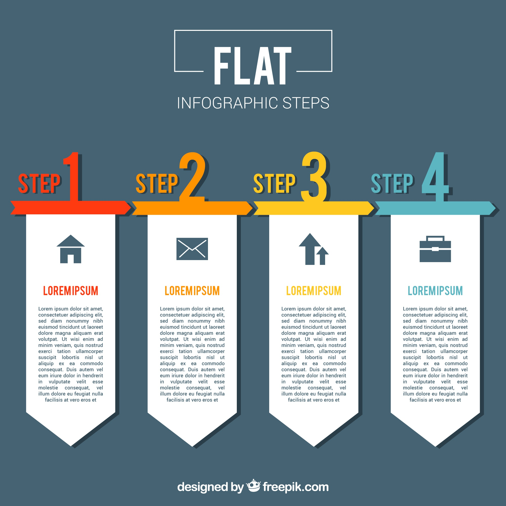 Colorful infographic template with flat design