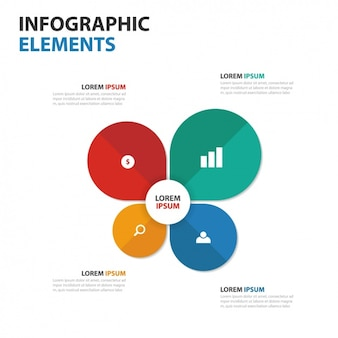 Colorful infographic template with four phases