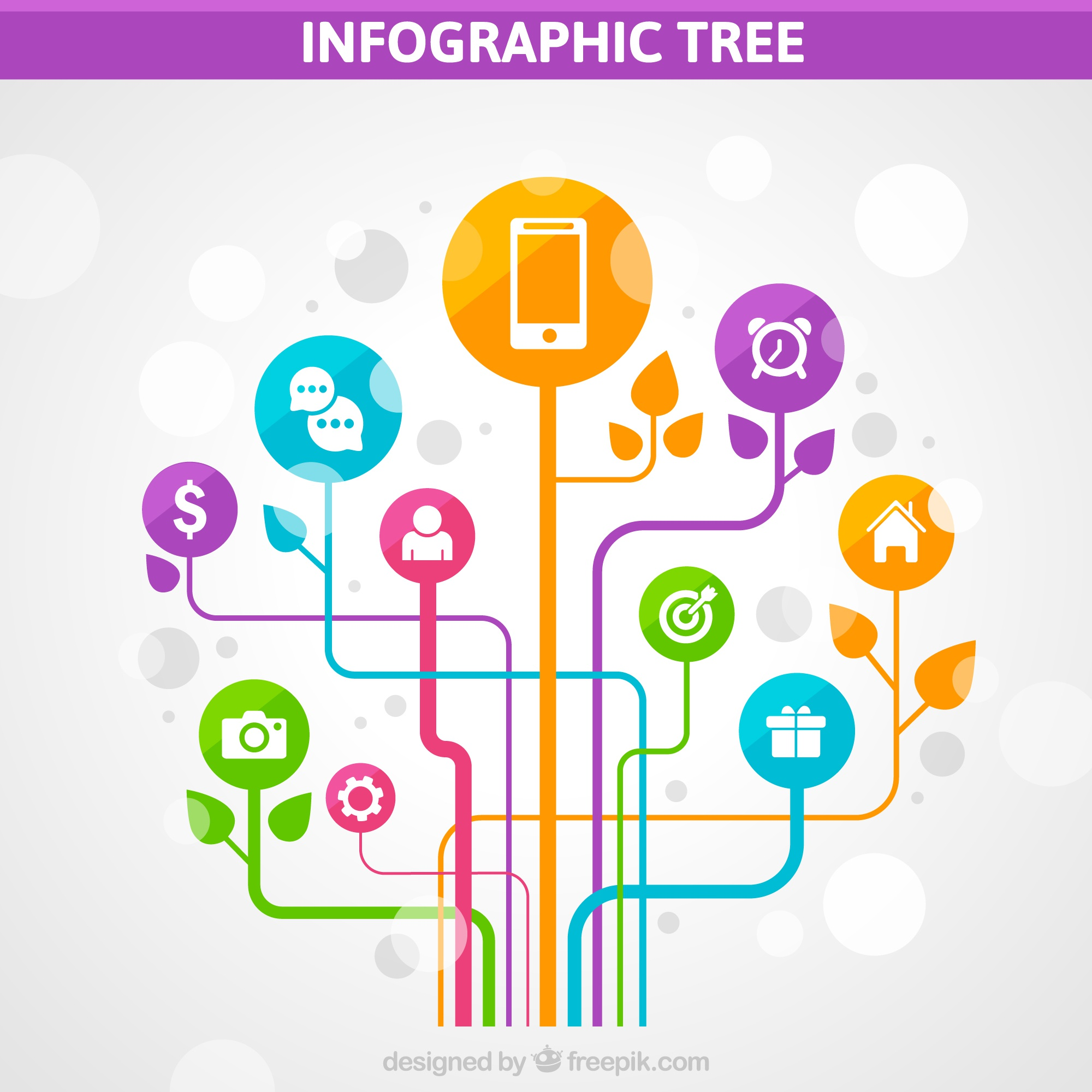 Colorful Infographic Tree