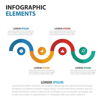 Colorful infographic with a timeline
