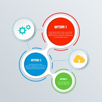 Colorful infographics with circles