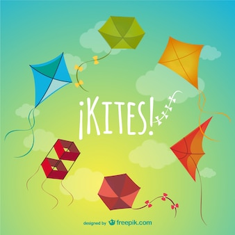 Colorful kites pack