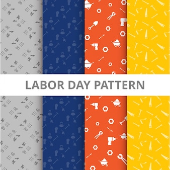 Colorful labor day patterns