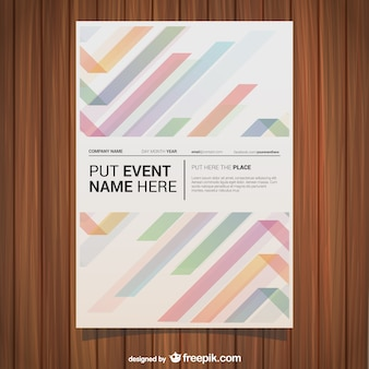 Colorful lines event poster