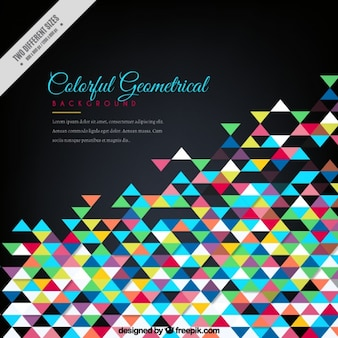 Colorful little triangles background