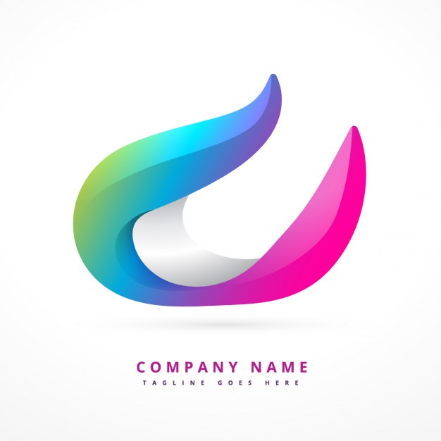 colorful logo in 3d