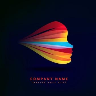Красочный логотип с овала лица
