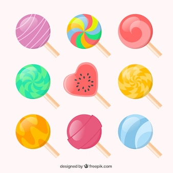 Colorful lollipops collection