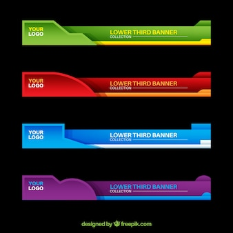 Colorful lower thirds set