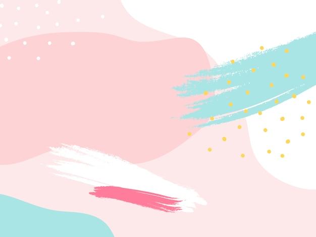Colorful memphis design background vector